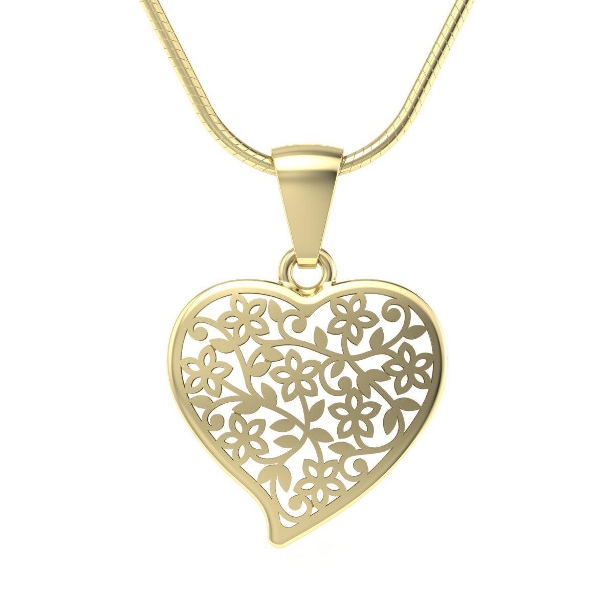 Złoty wisiorek serce