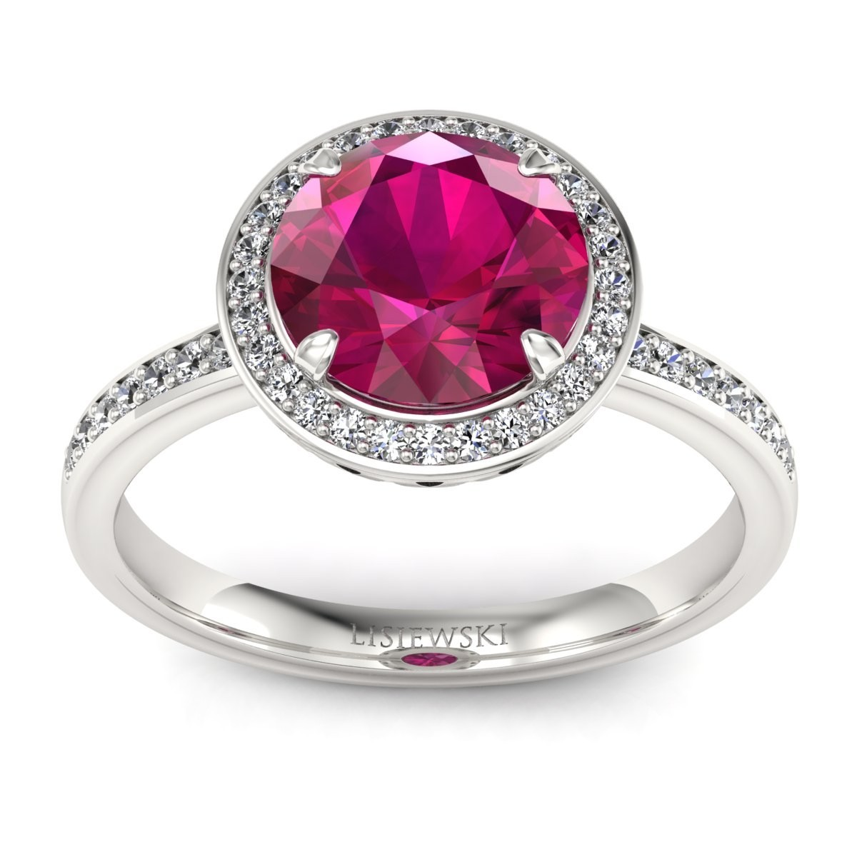 Manhattan - Pierścionek z rubinem i diamentami