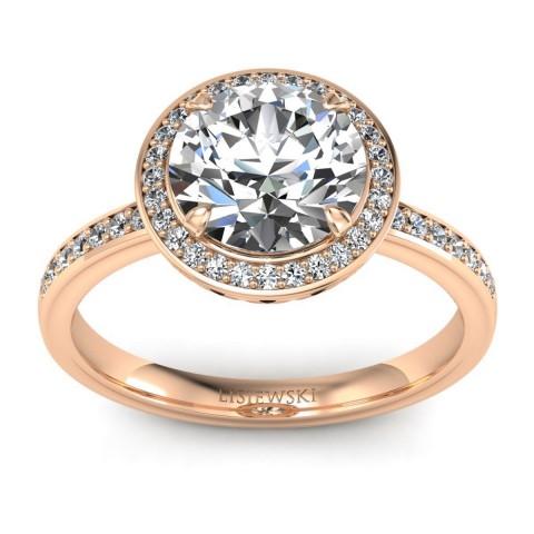 Manhattan - Pierścionek z diamentami różowe złoto