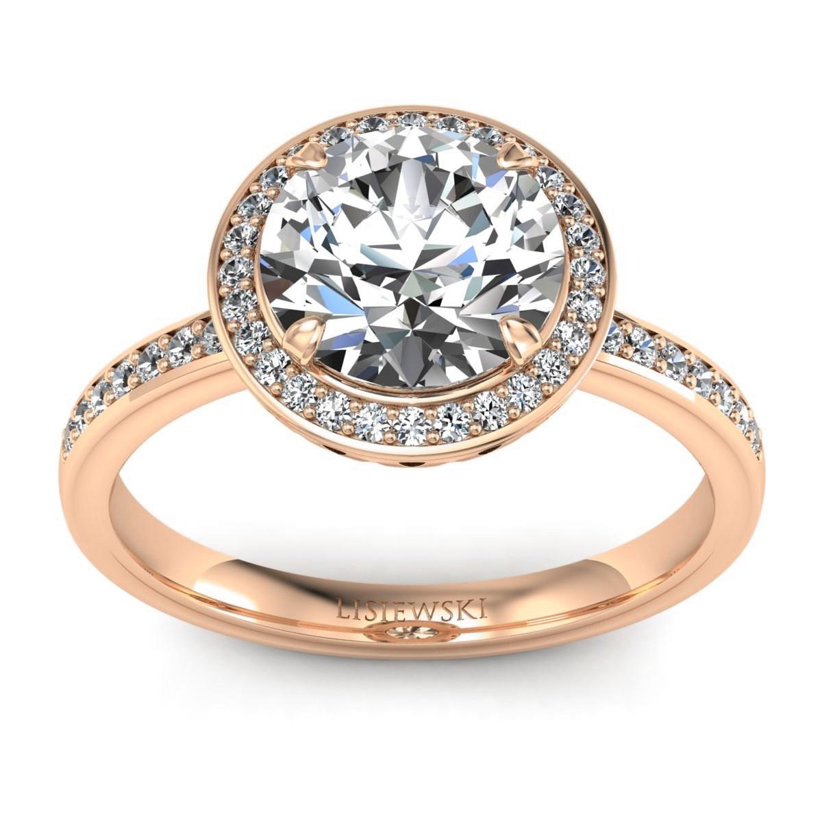 Manhattan - Różowy pierścionek z diamentami
