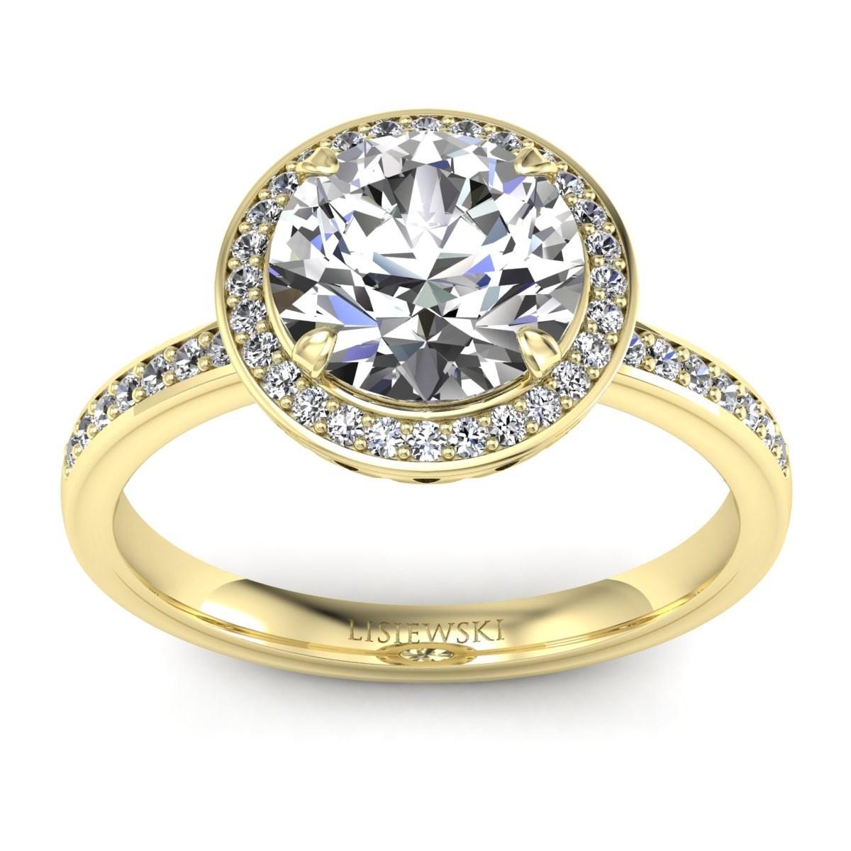 Manhattan - Złoty pierścionek z diamentami