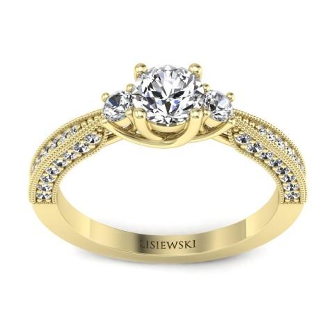 Melania - Złoty pierścionek z diamentami