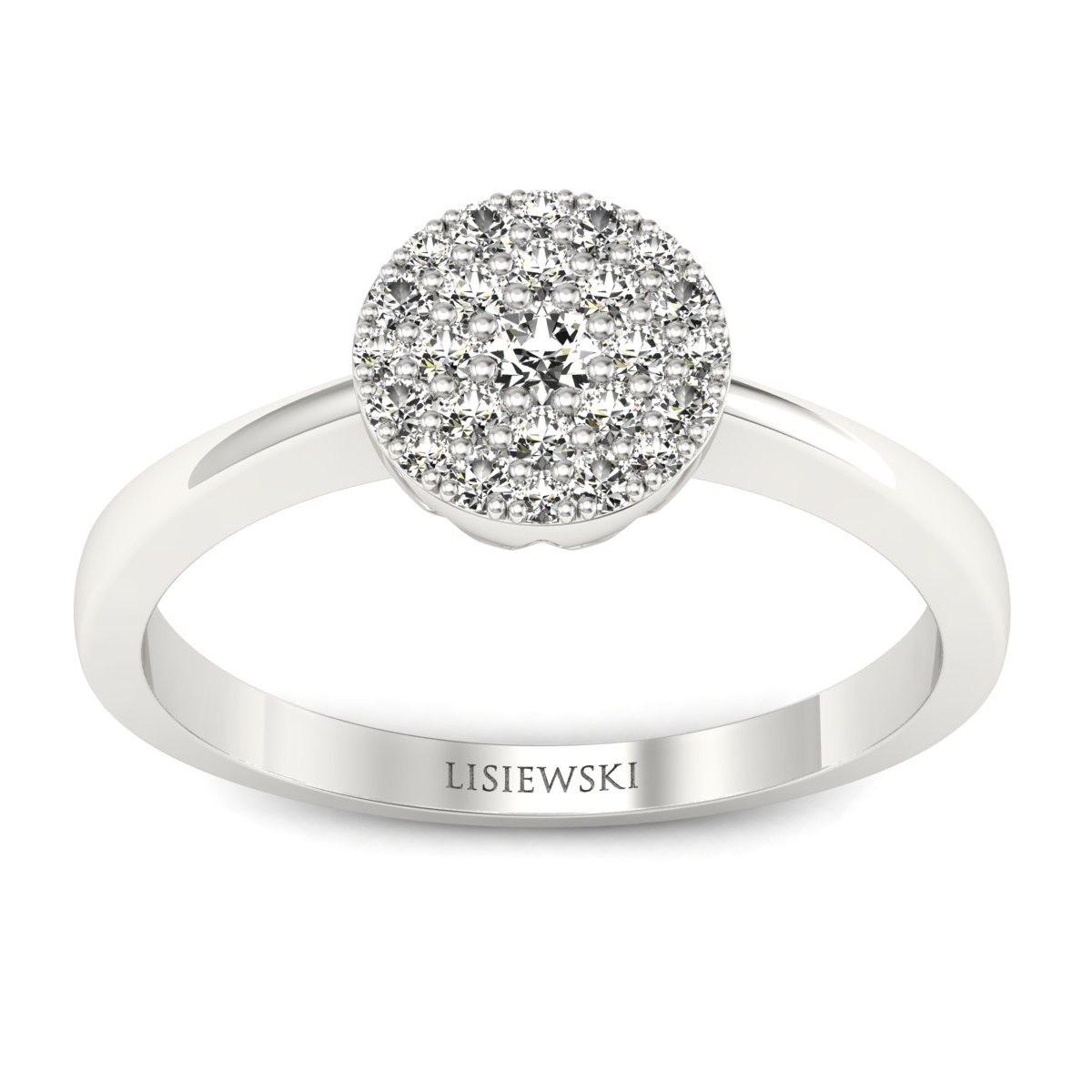 Roma - Platynowy pierścionek z diamentami