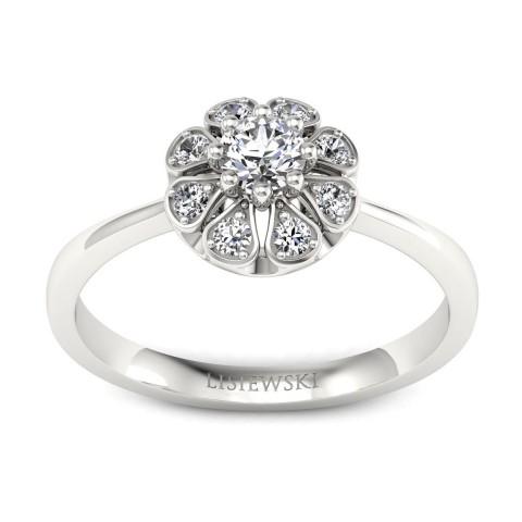 Scarlett - Platynowy pierścionek z diamentami