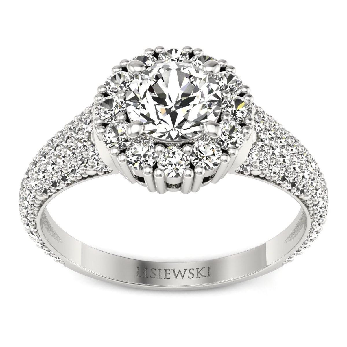 Kate - Platynowy pierścionek z diamentami