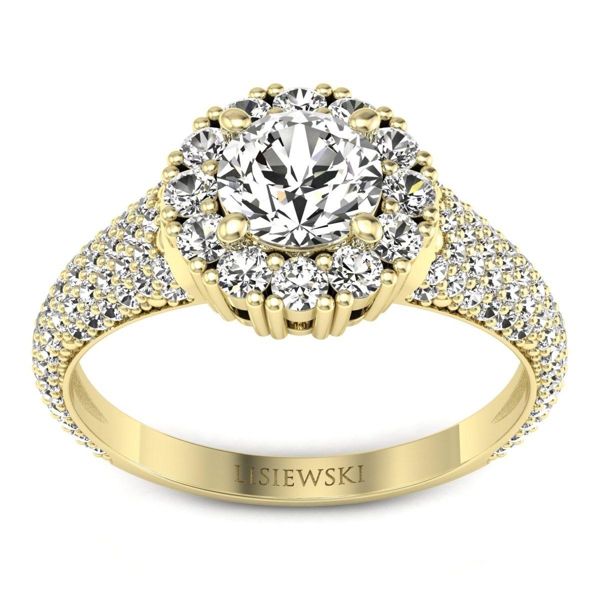 Kate - Złoty pierścionek z diamentami