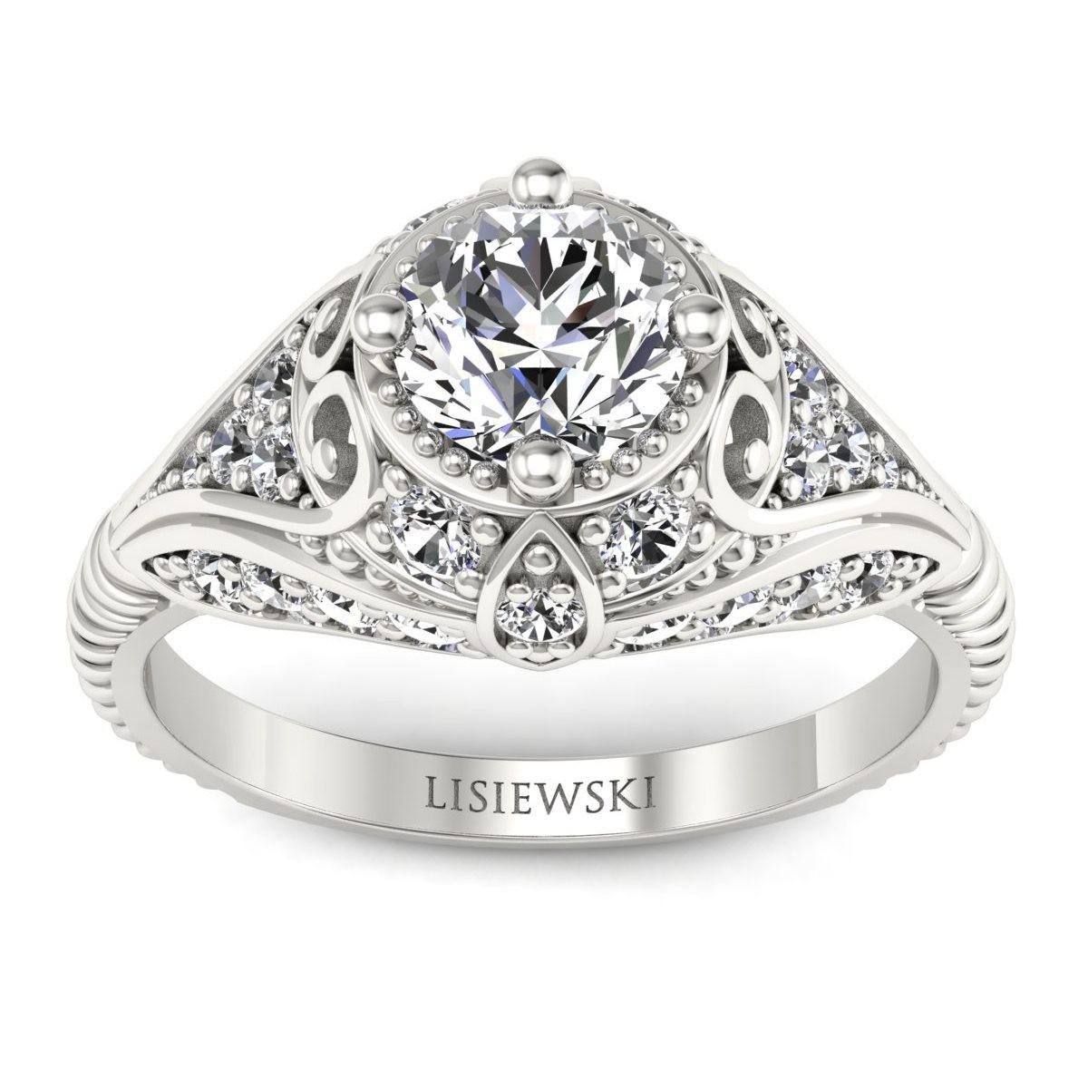 Sophia - Platynowy pierścionek z diamentami