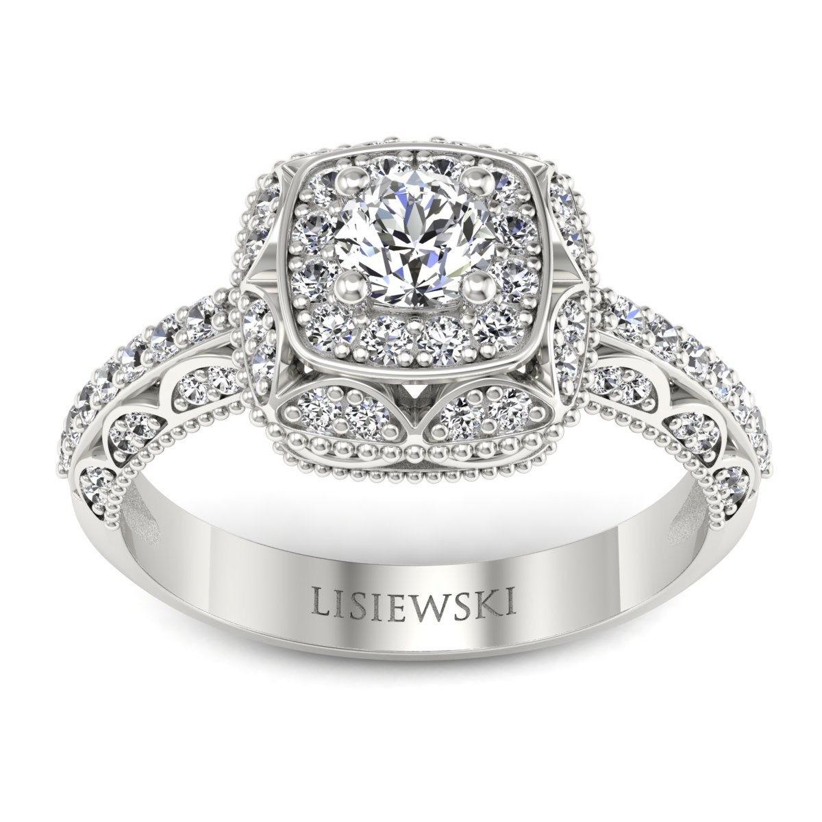 Elizabeth - Platynowy pierścionek z diamentami