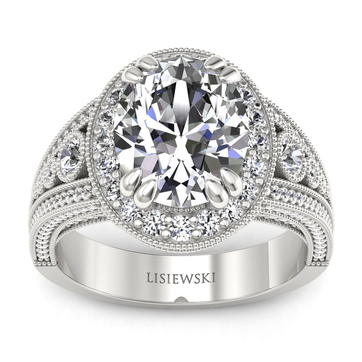 Marilyn - Platynowy pierścionek z diamentami