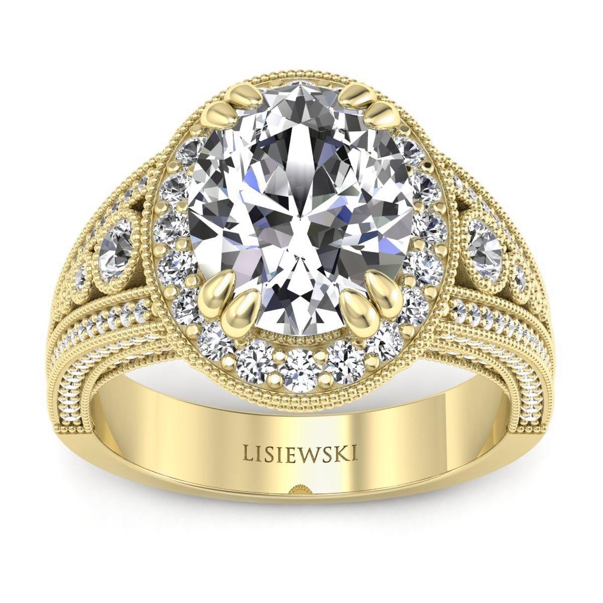 Marilyn - Pierścionek z diamentami złoty