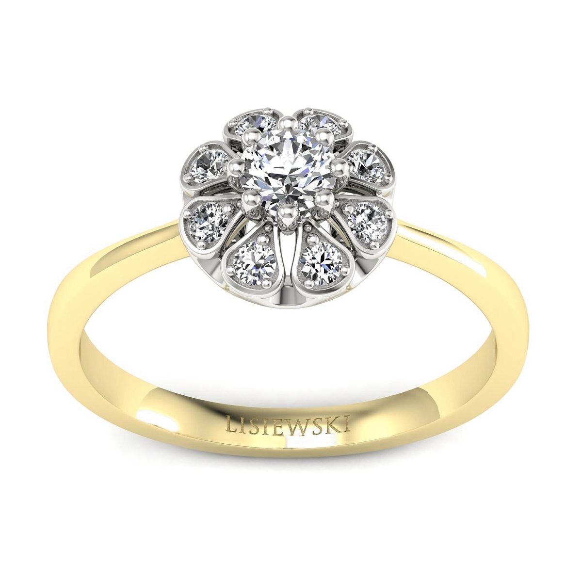 Scarlett - złoty pierścionek z diamentami
