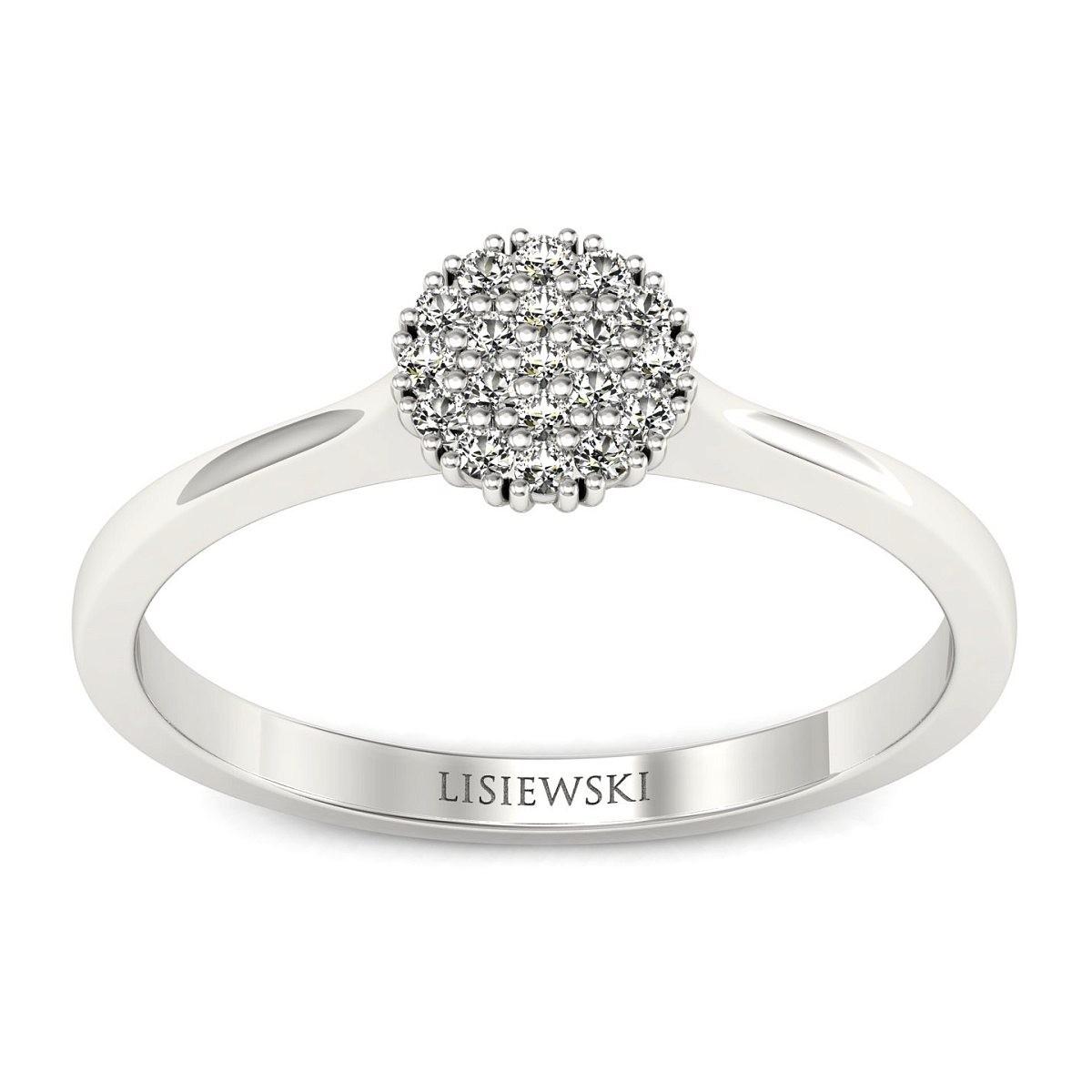 Venezia - Platynowy pierścionek z diamentami