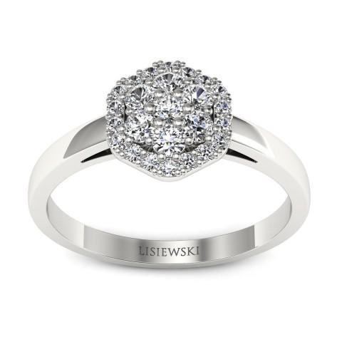 Casablanca - Platynowy pierścionek z diamentami