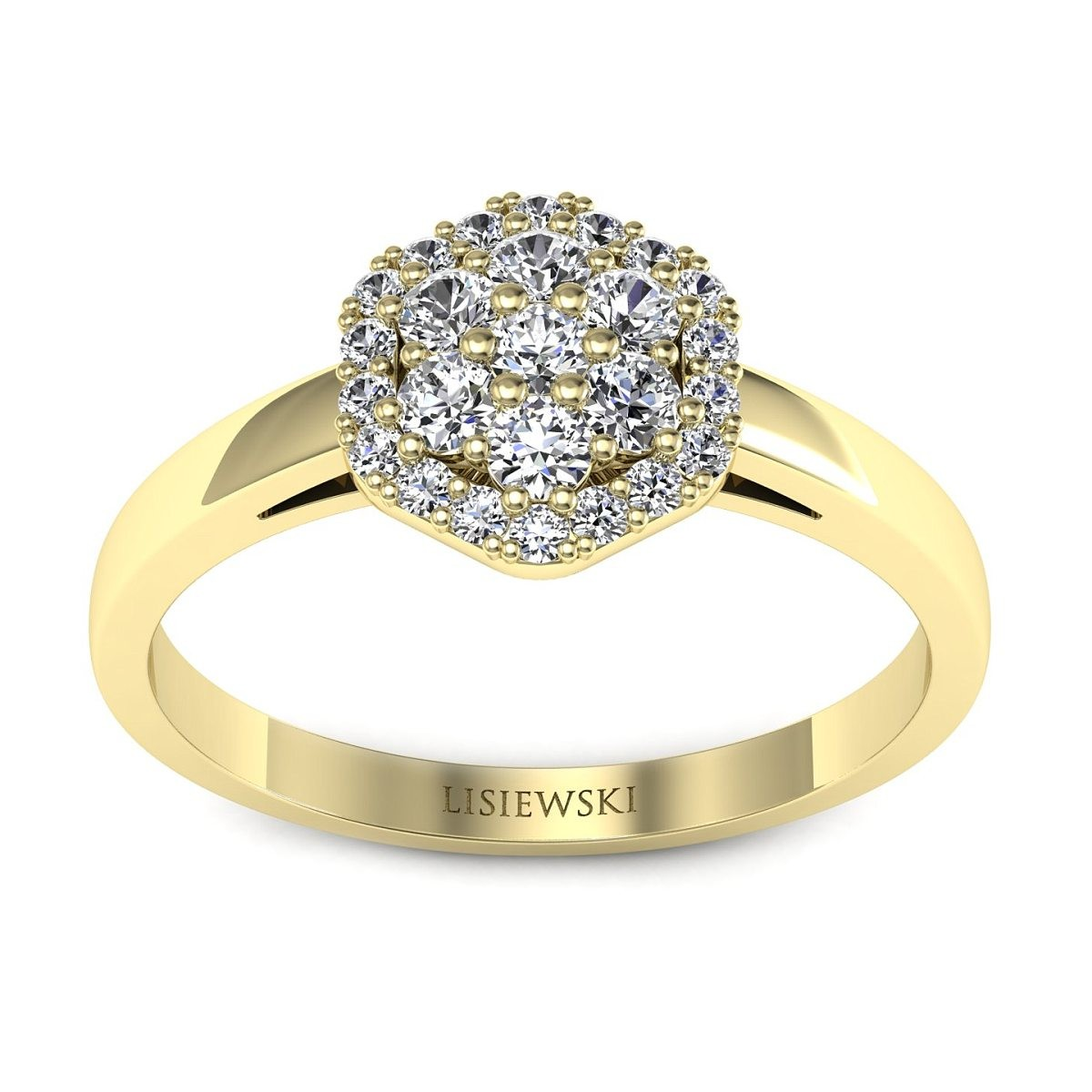 Casablanca - Złoty pierścionek z diamentami