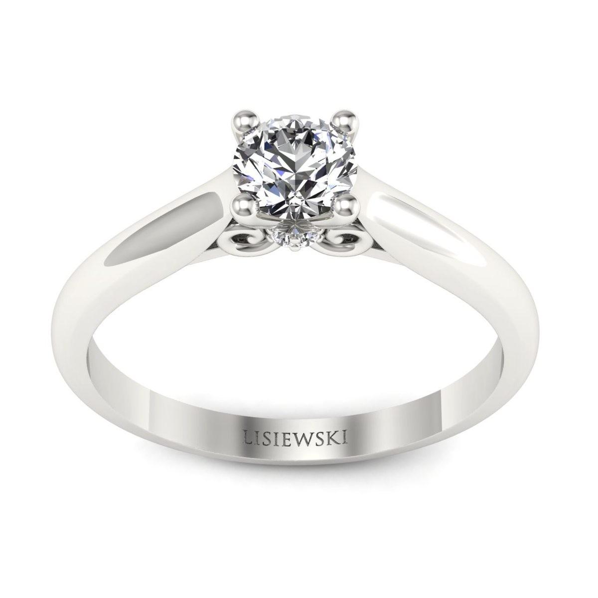 Solitaire - Platynowy pierścionek z diamentami