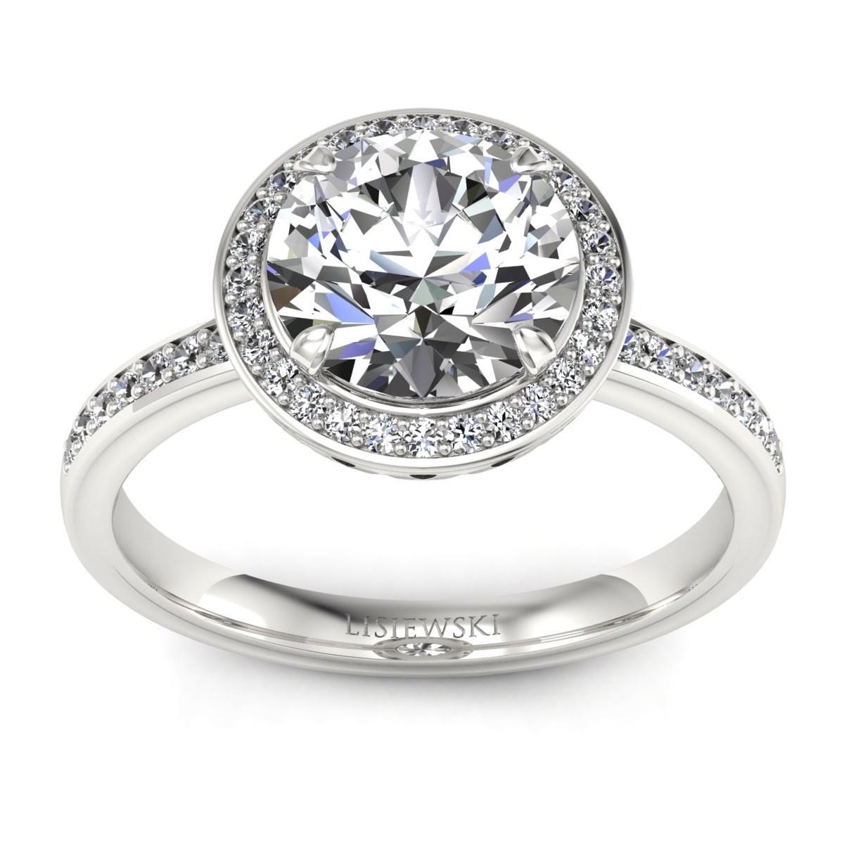 Manhattan - Platynowy pierścionek z diamentami
