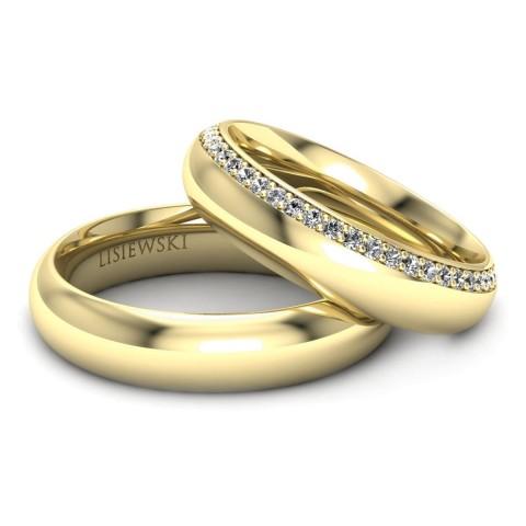 Louvre - Obrączki ślubne z diamentami
