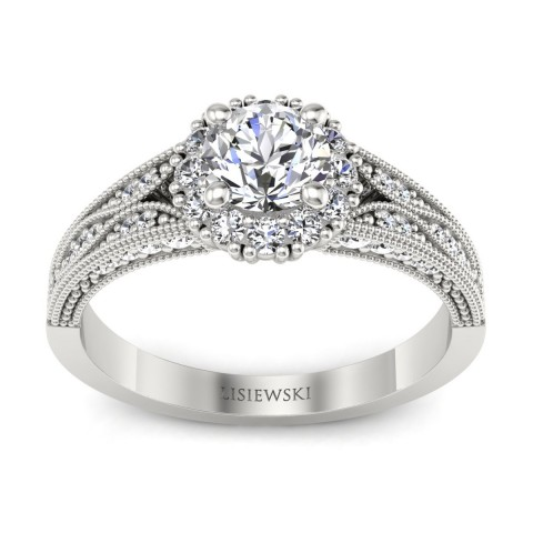Eve - Platynowy pierścionek z diamentami