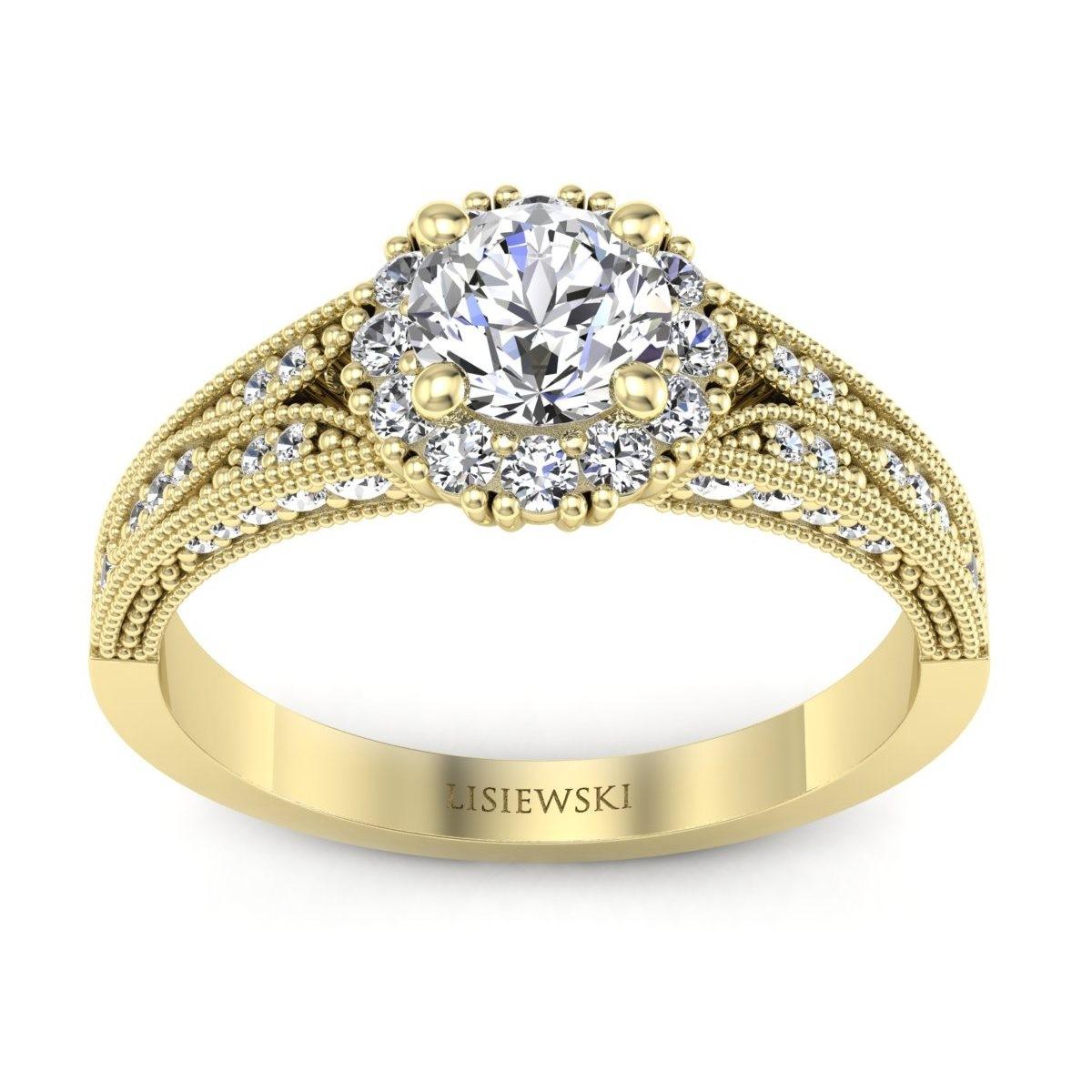 Eve - Złoty pierścionek diamentami