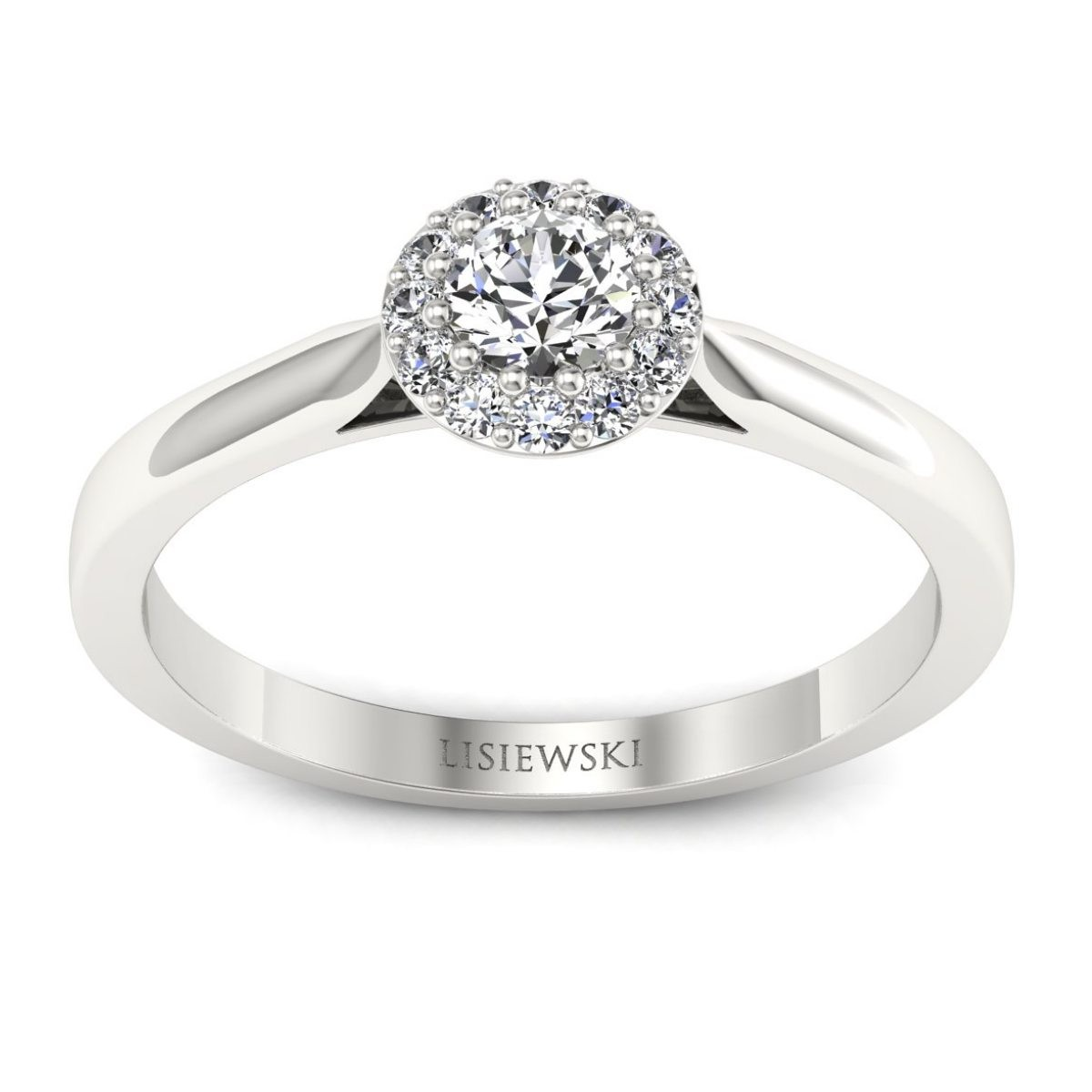 Platynowy pierścionek z brylantami