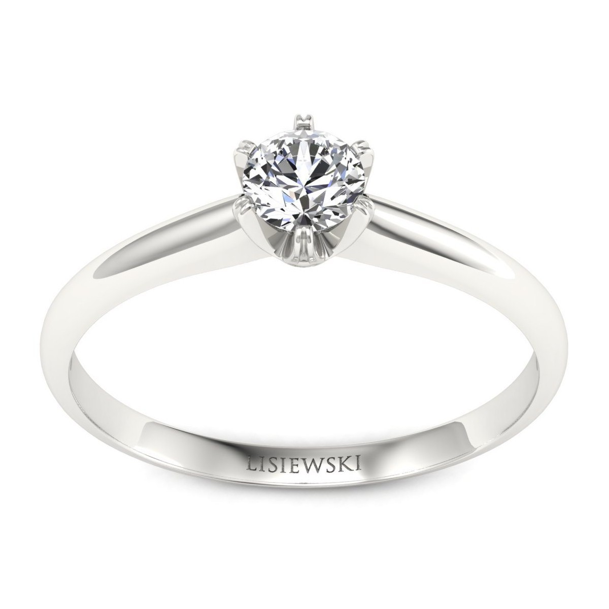 Platynowy pierścionek z diamentem