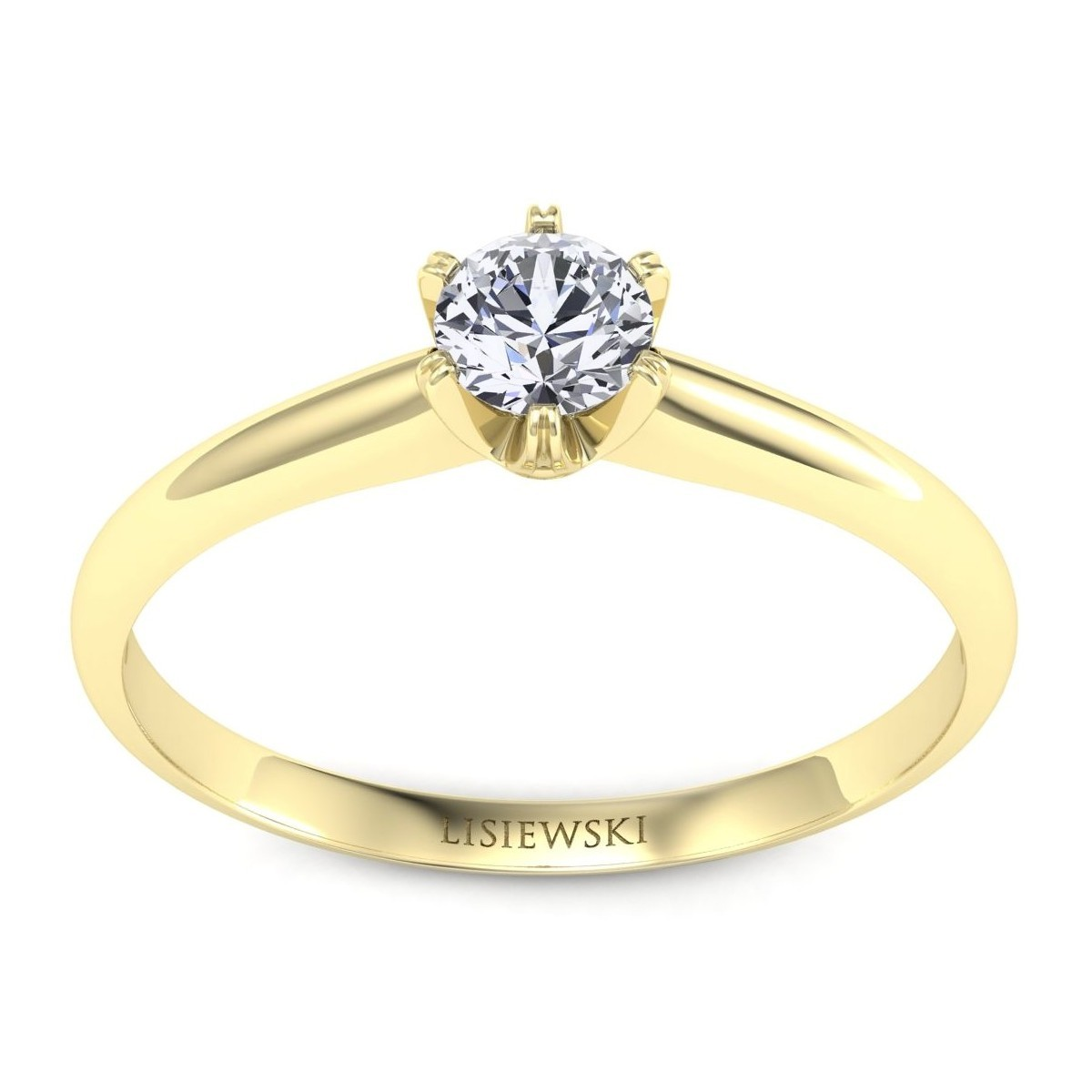 Pierścionek złoty diamentem