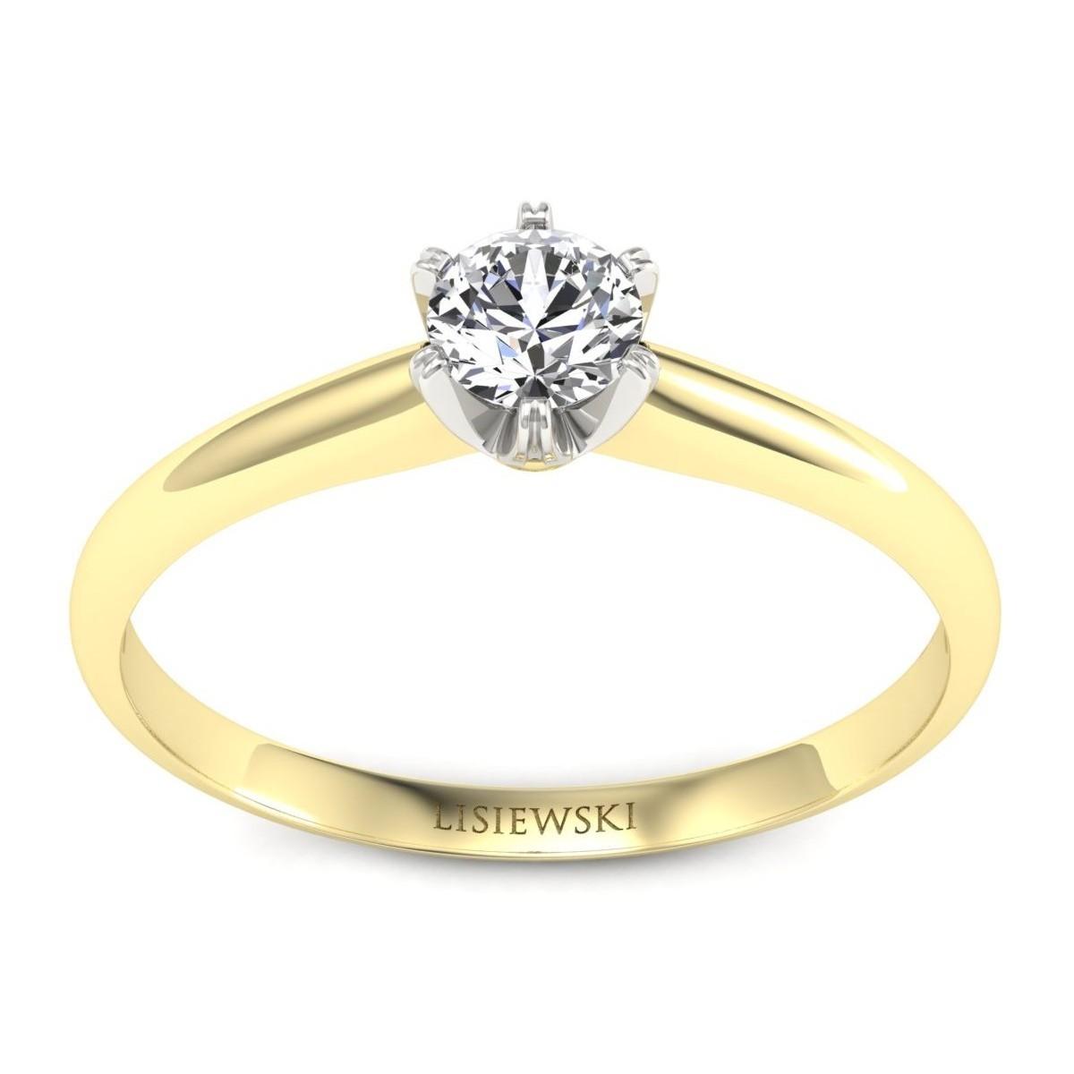 Pierścionek z diamentem złoty