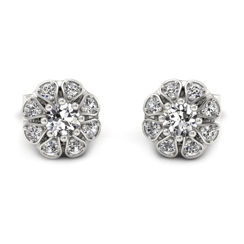 Scarlett - Kolczyki z białego złota i diamentami