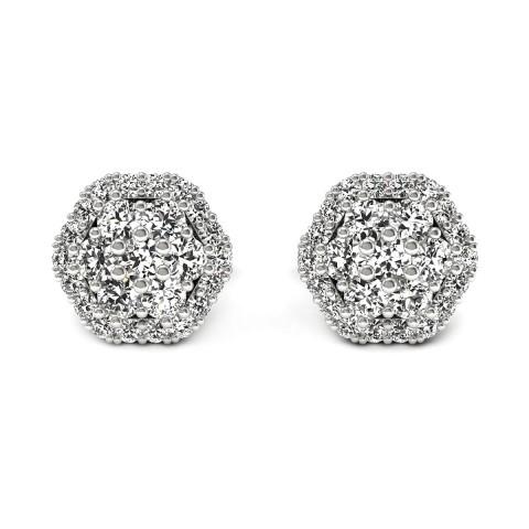 Casablanca - kolczyki z diamentami białe złoto