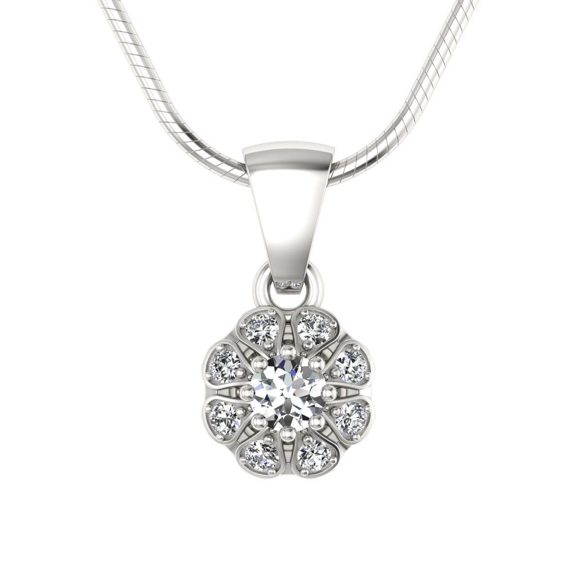Scarlett - Wisiorek białe złoto z diamentami