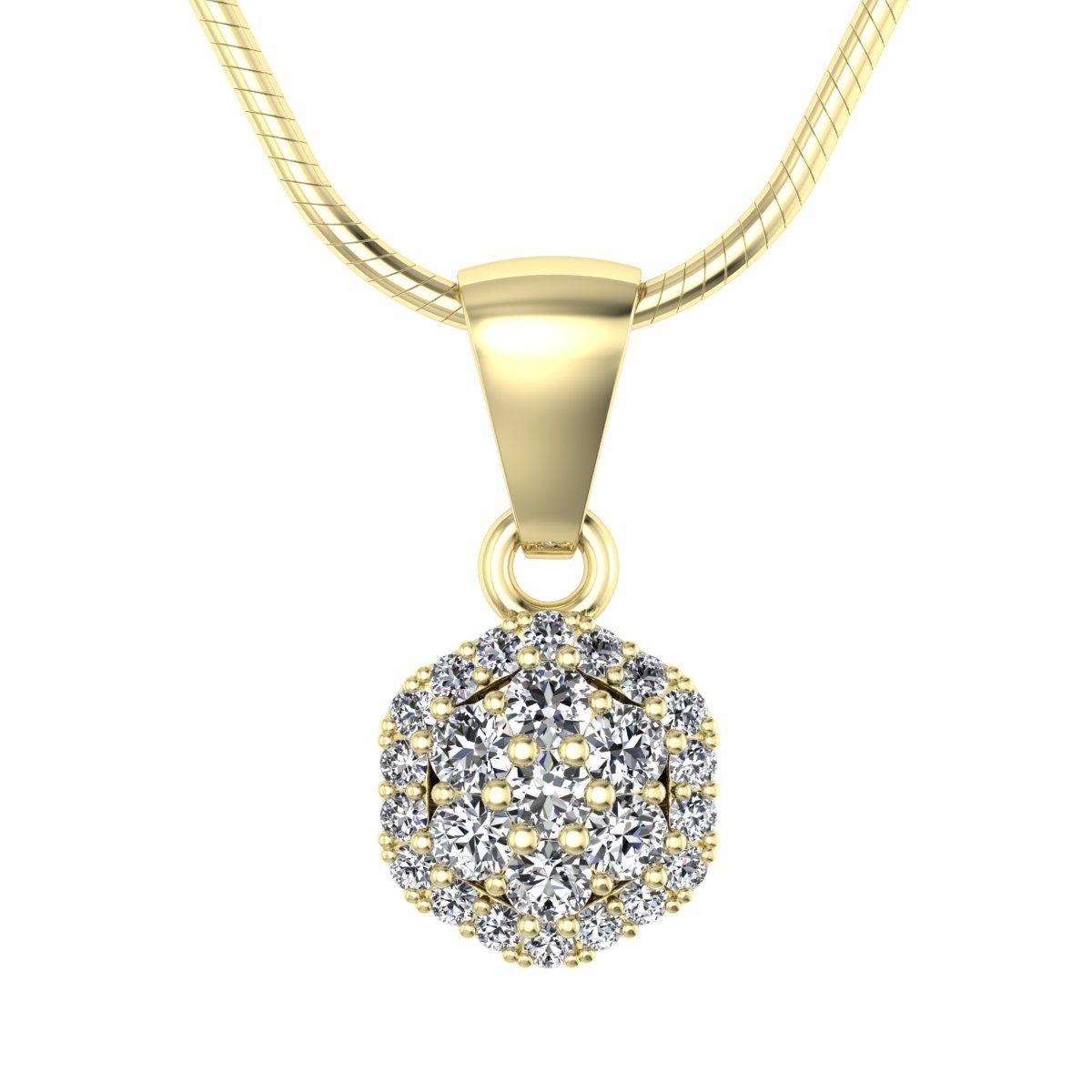 Casablanca - Wisiorek złoty z diamentami