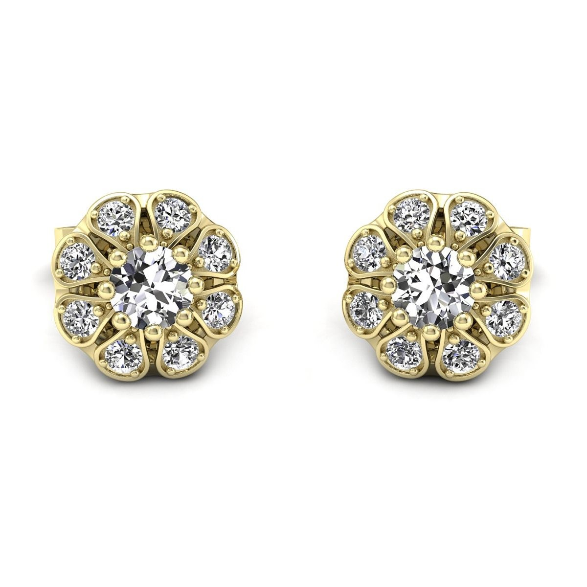 Scarlett - złote kolczyki z diamentami