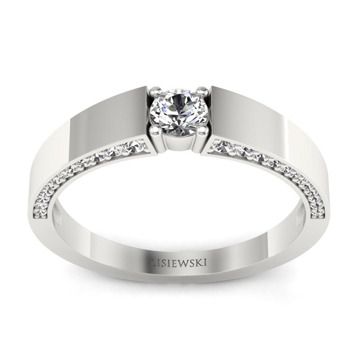 Verona - Platynowy pierścionek z diamentami