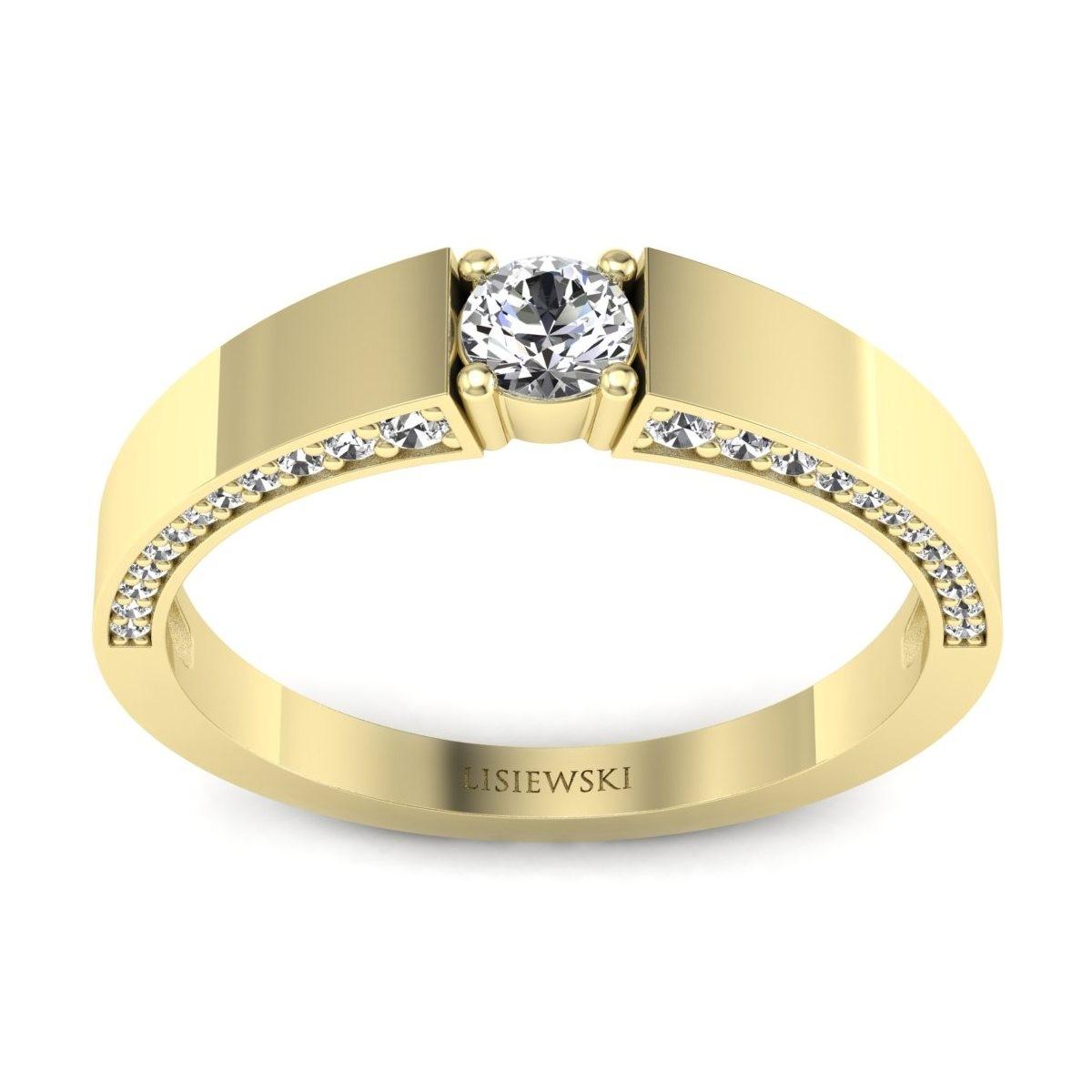 Verona - Złoty pierścionek z diamentami