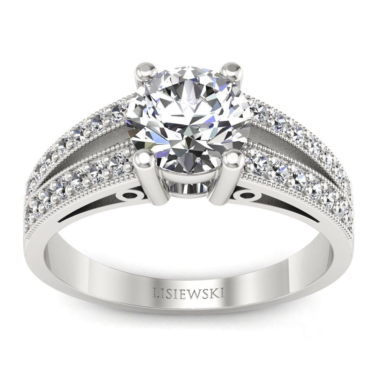 San Marino Platynowy pierścionek z diamentami