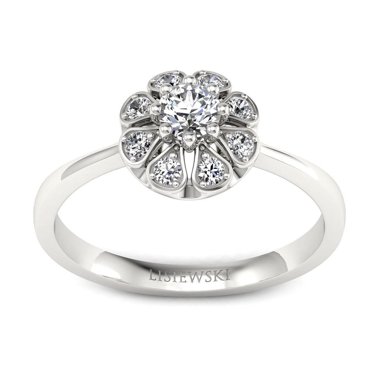 Scarlett - pierścionek z diamentami białe złoto
