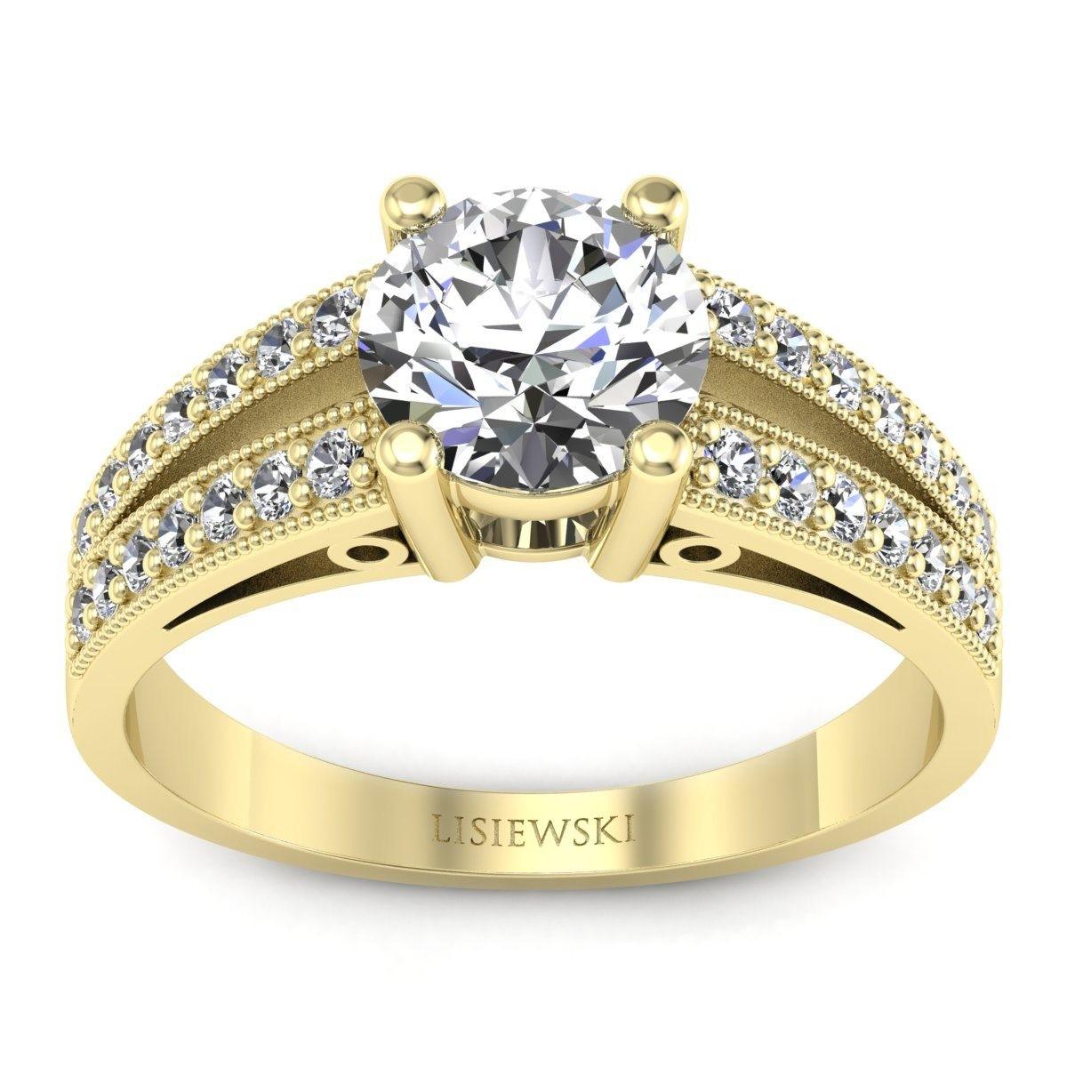 San Marino - Złoty pierścionek z diamentami