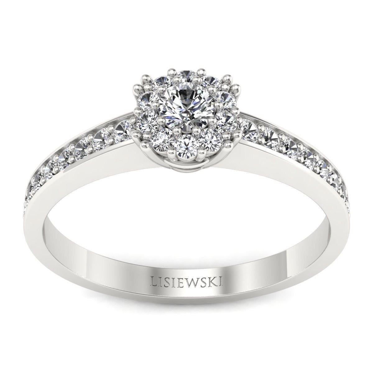 Vienna - Platynowy pierścionek z diamentami