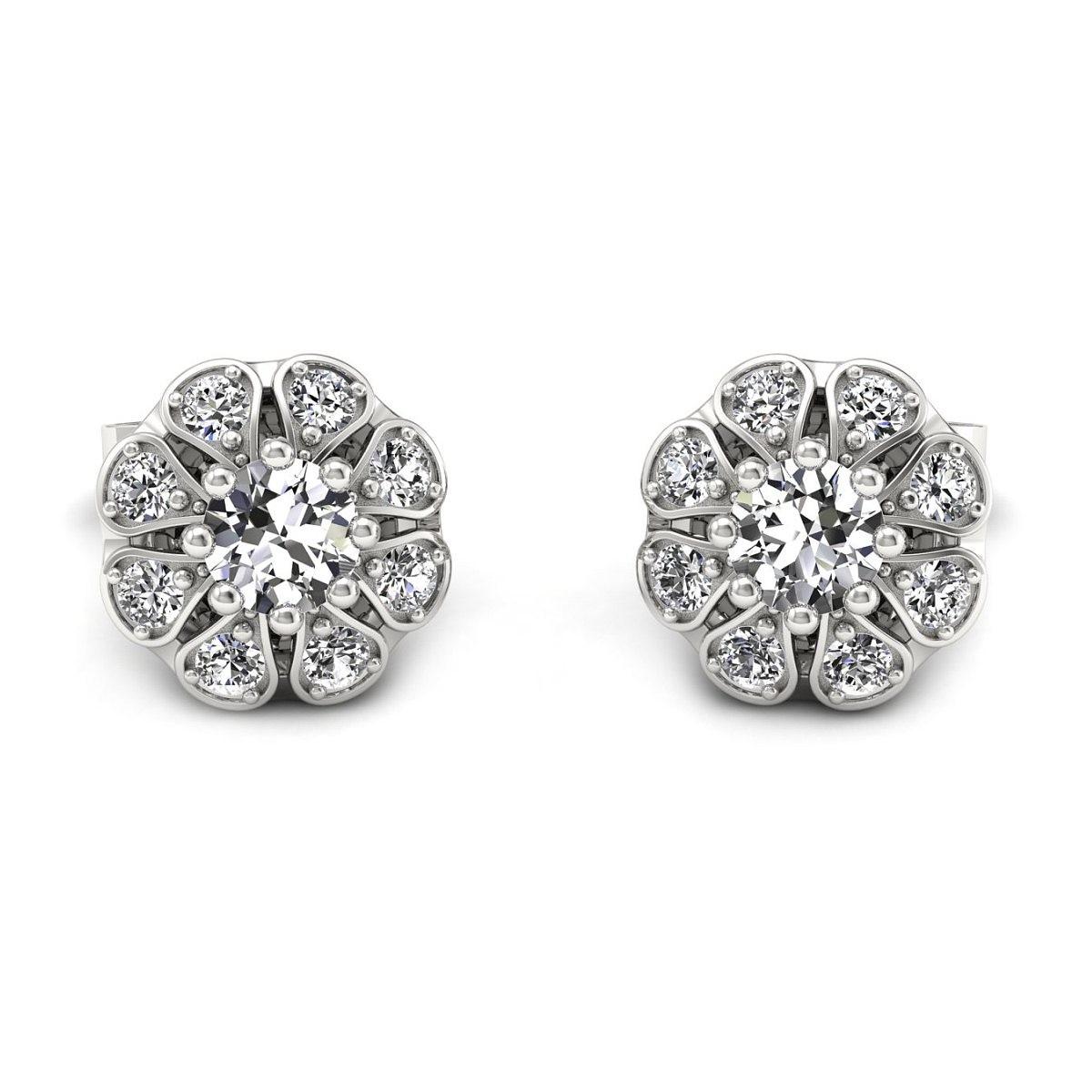 Scarlett - kolczyki z diamentami białe złoto