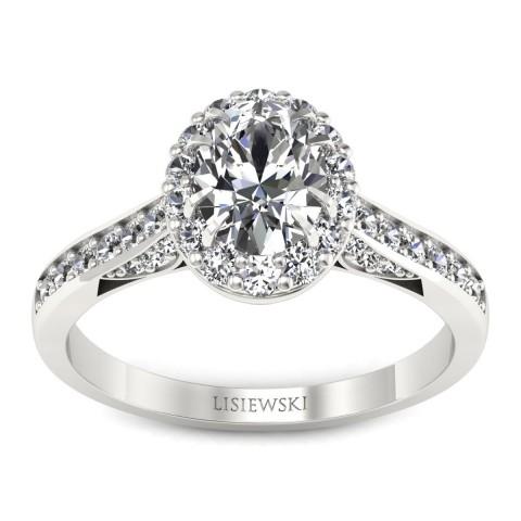 Caroline - Platynowy pierścionek z diamentami