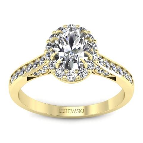 Caroline - Pierścionek złoty z diamentami