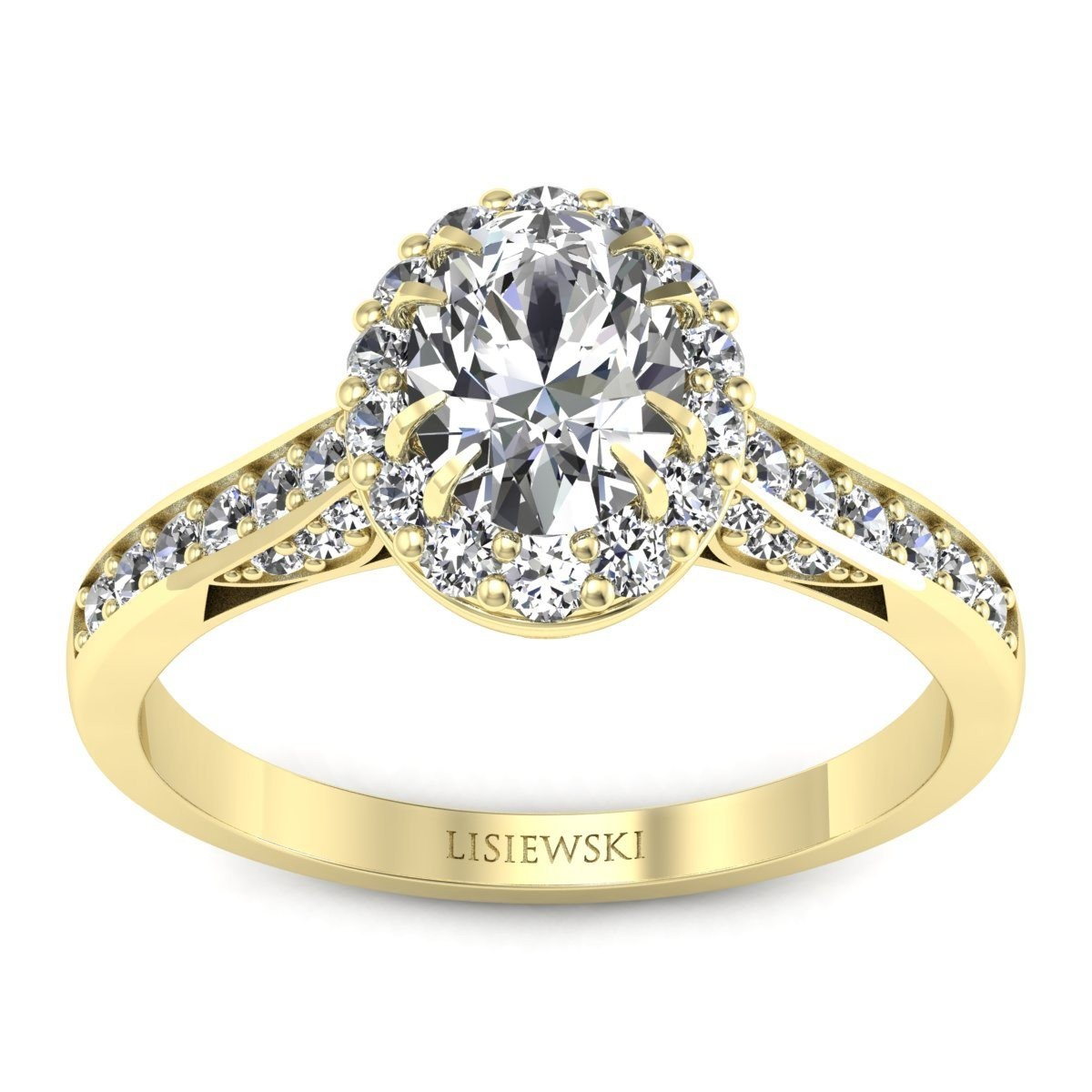 Caroline - Złoty pierścionek z diamentami