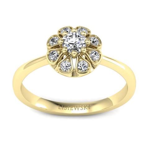 Scarlett - Pierścionek złoty z diamentami