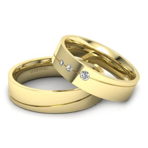 Stars - Obrączki ślubne z diamentami