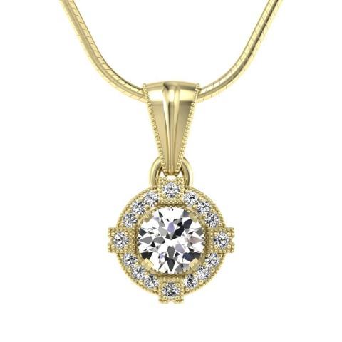 Audrey - Wisiorek złoty z diamentami