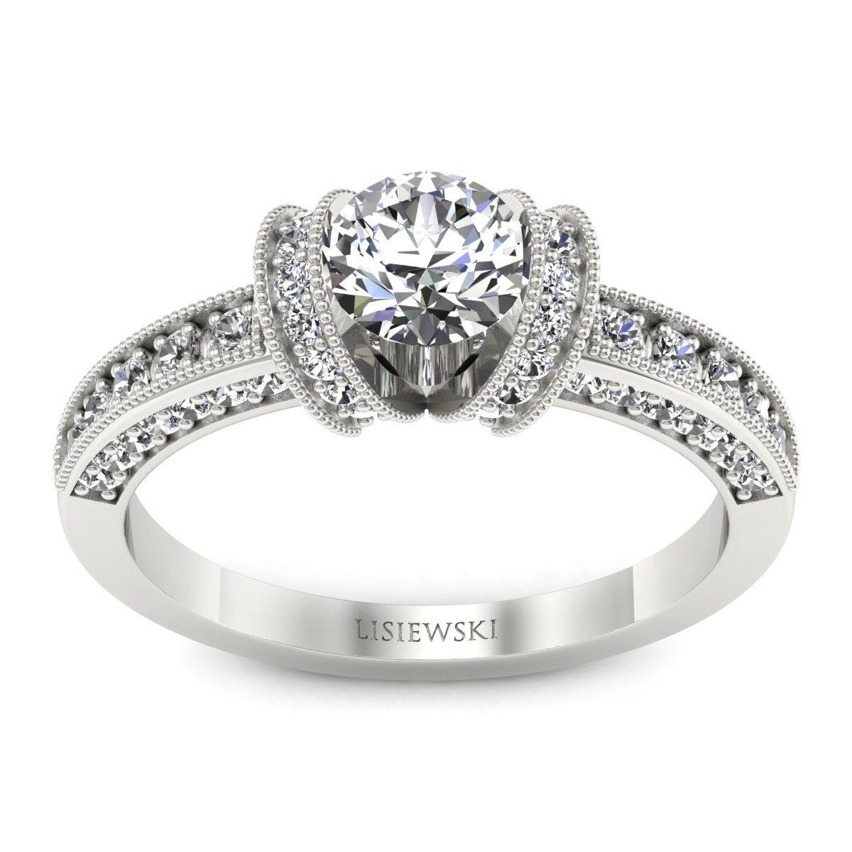 Molly - Platynowy pierścionek z diamentami