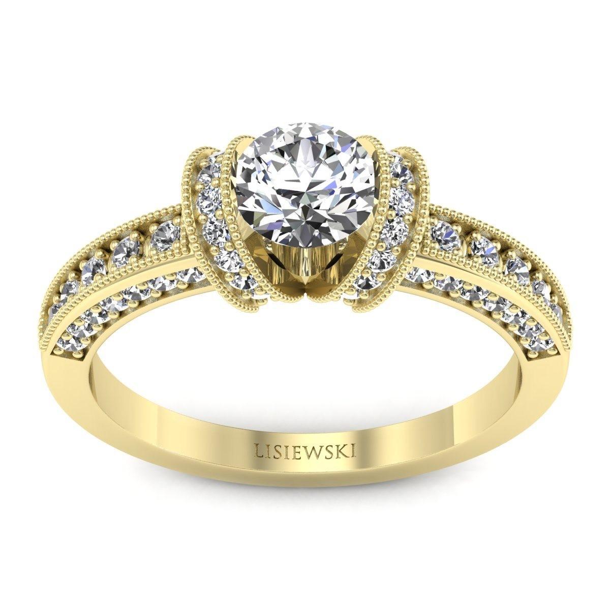 Molly - Złoty pierścionek z diamentami