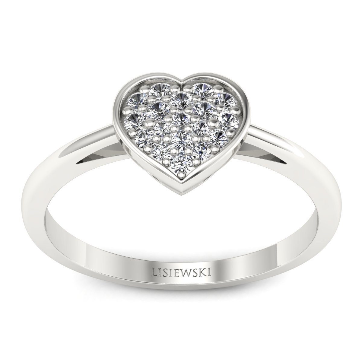 Heart - Pierścionek z diamentami
