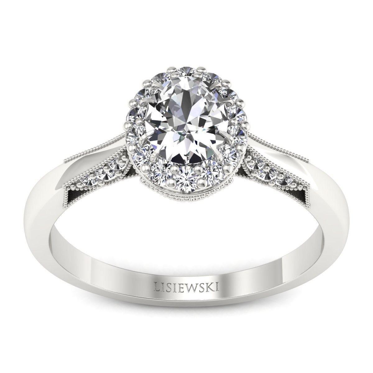 Diana - Platynowy pierścionek z diamentami