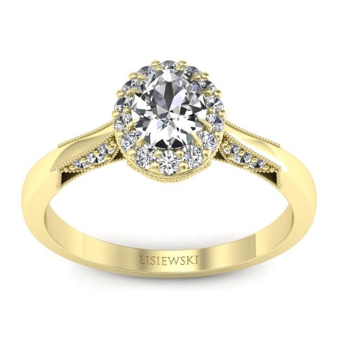 Diana - Pierścionek złoty z diamentami